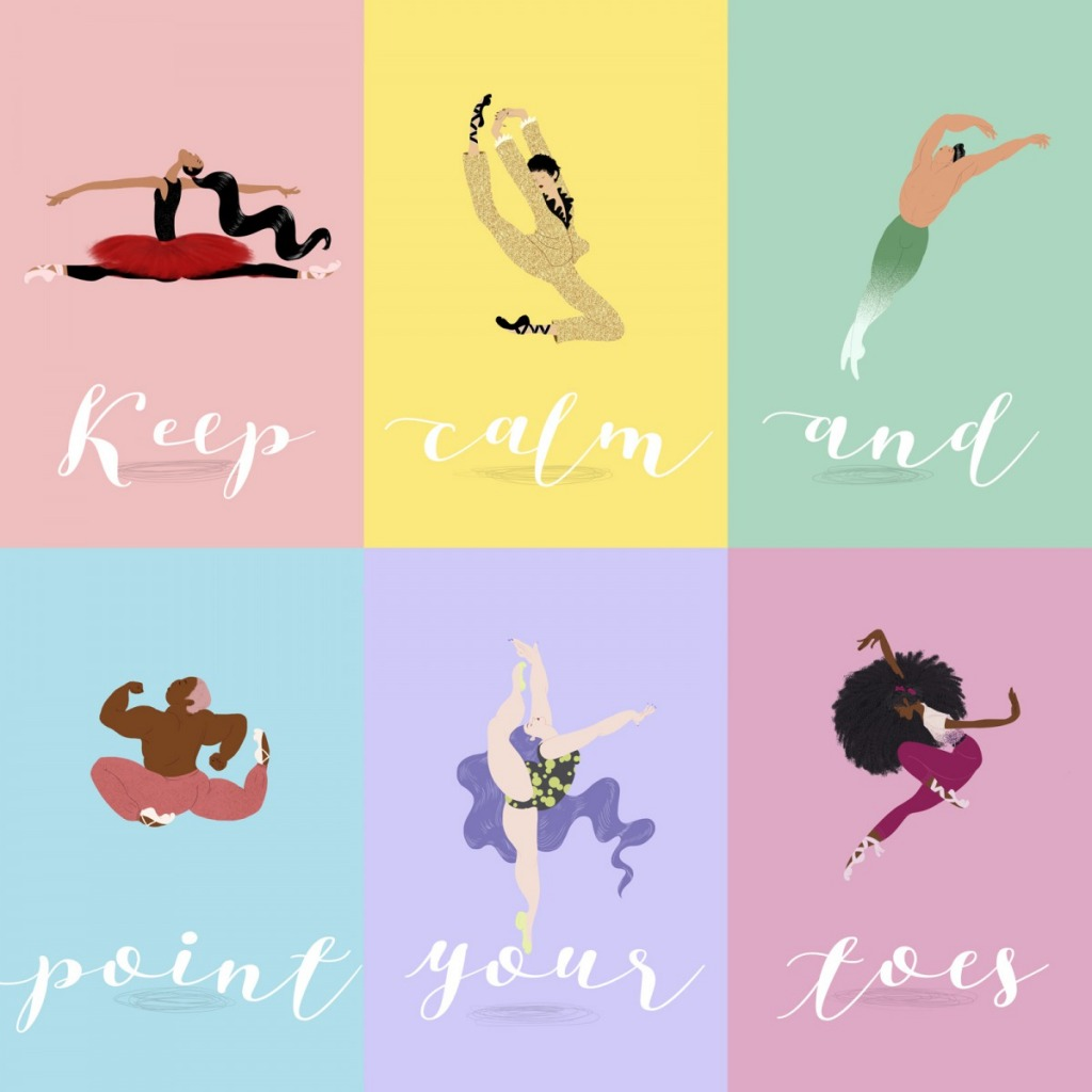 Keep calm and point your toes by Mika Senda
