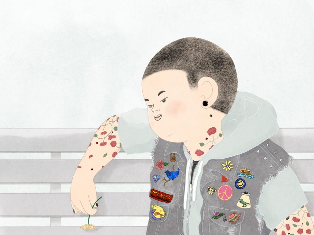 Tattooed Boy in Springtime By Mika Senda