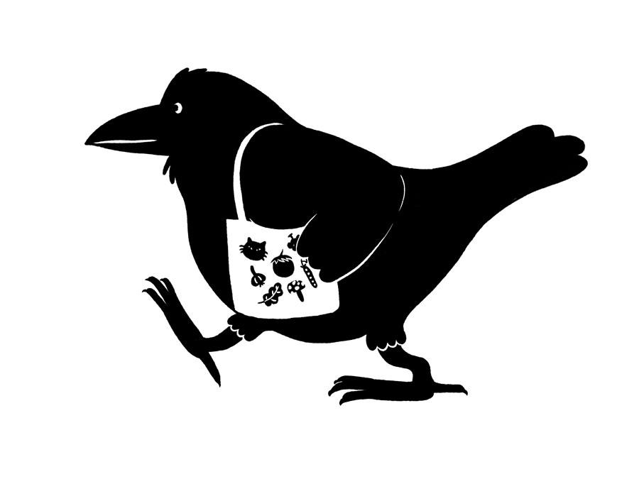 Vancouver Crow by Mika Senda Illustration