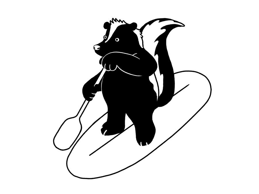 Vancouver Skunk by Mika Senda Illustration