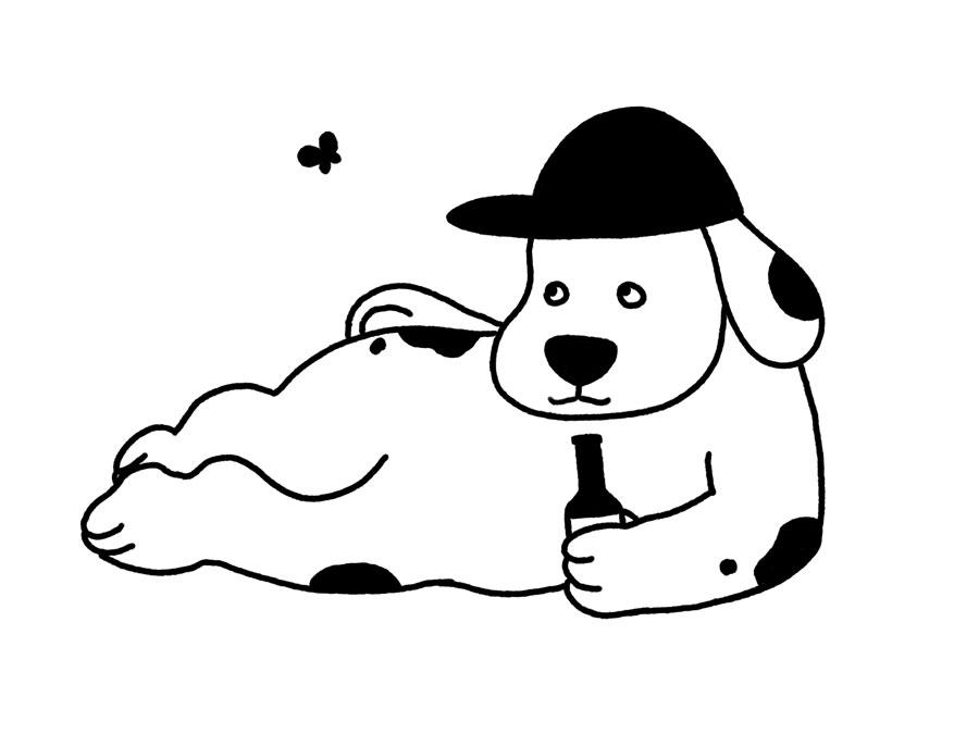 Vancouver Dog by Mika Senda Illustration
